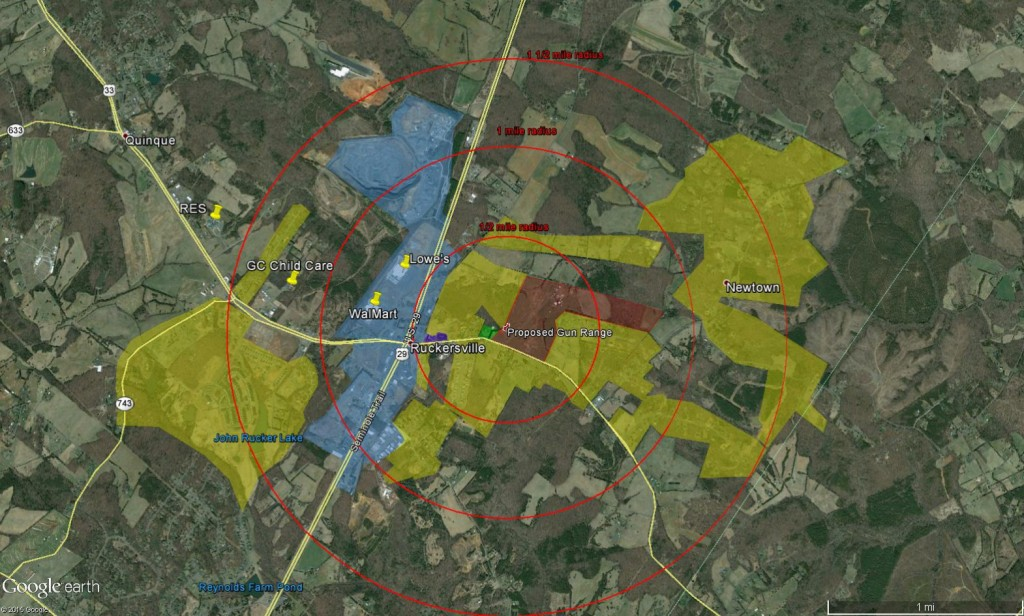 Yellow - Residential. Purple - Churches. Blue - Commercial. Red - Farm.